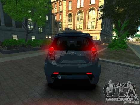 Chevrolet Spark para GTA 4 traseira esquerda vista