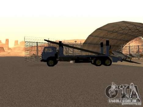 Caminhão KAMAZ para GTA San Andreas traseira esquerda vista