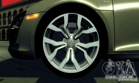 Audi R8 5.2 FSI Quattro para GTA San Andreas vista direita