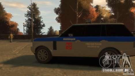 Land Rover Range Rover Police para GTA 4 vista de volta