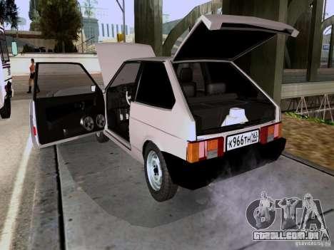 Dreno VAZ 2108 para GTA San Andreas vista traseira