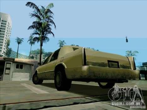 Uma limusine curta para GTA San Andreas traseira esquerda vista