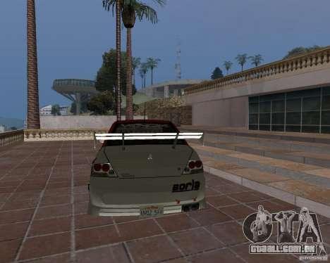 Mitsubishi Lancer Evolution VIII para GTA San Andreas vista superior