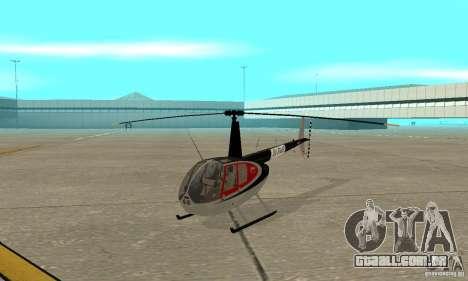 Robinson R44 Raven II NC 1.0 pele 2 para GTA San Andreas esquerda vista