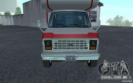 1986 Ford Econoline para GTA San Andreas esquerda vista