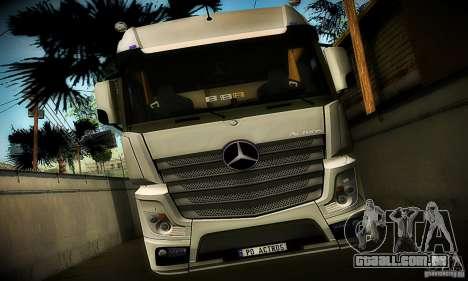 Mercedes-Benz Actros 2012 para GTA San Andreas vista traseira