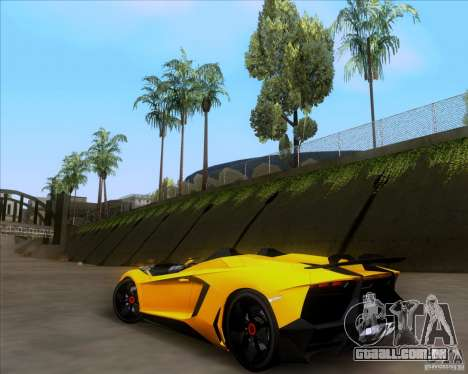 Lamborghini Aventador J TT Black Revel para GTA San Andreas vista traseira