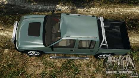 Chevrolet S-10 Colinas Cabine Dupla para GTA 4 vista direita