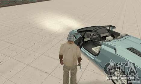 Lamborghini Gallardo Spyder para GTA San Andreas vista traseira
