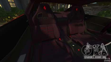 Ferrari 599 GTO 2011 para GTA 4 vista interior