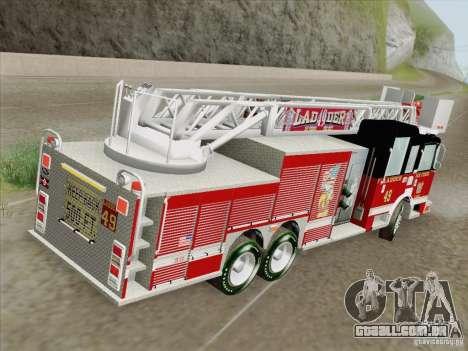 Pierce Rear Mount SFFD Ladder 49 para o motor de GTA San Andreas