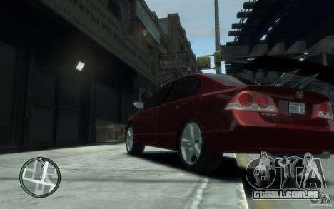 Honda Civic 2006 para GTA 4 traseira esquerda vista