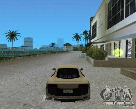 Audi R8 5.2 Fsi para GTA Vice City vista traseira esquerda