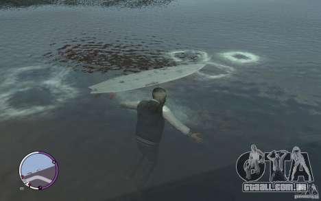 Prancha de surf para GTA 4 esquerda vista
