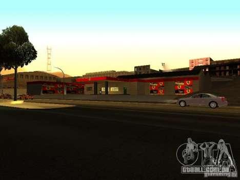 A garagem da Ferrari em Dorothy para GTA San Andreas