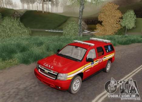 Chevrolet Suburban EMS Supervisor 862 para GTA San Andreas traseira esquerda vista