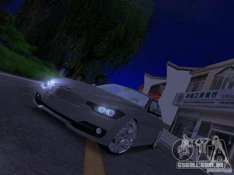 BMW 335i F30 Coupe para GTA San Andreas vista traseira