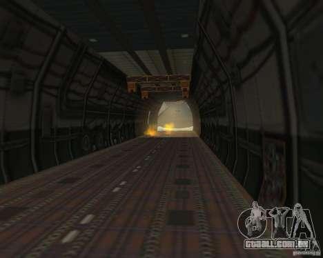 O an-225 Mriya para GTA San Andreas vista direita