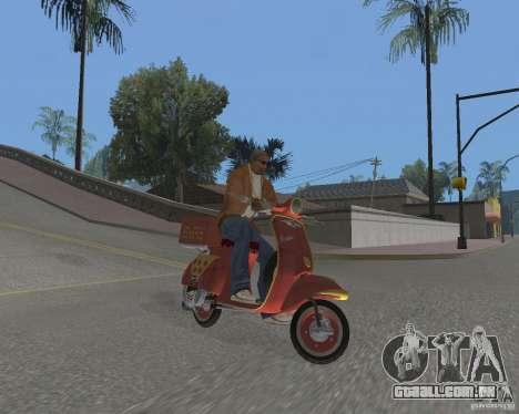 Vespa N-50 Pizzaboy para GTA San Andreas vista direita