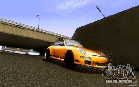 Porsche 911 GT3 RS para GTA San Andreas vista interior