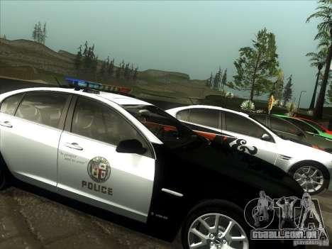 Pontiac G8 Police para GTA San Andreas traseira esquerda vista