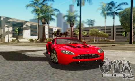 Aston Martin V12 Vantage para GTA San Andreas traseira esquerda vista