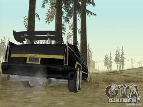 Limousine para GTA San Andreas traseira esquerda vista