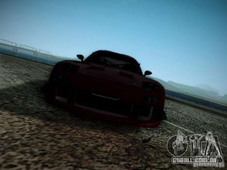 Mazda RX7 Drift para GTA San Andreas vista interior