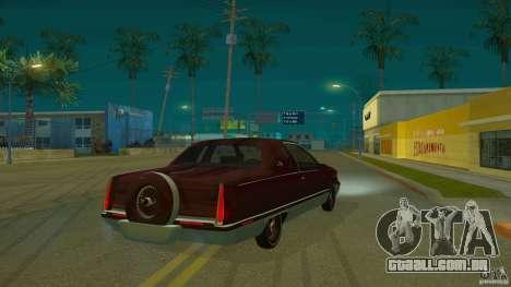 Cadillac Fleetwood 1993 para GTA San Andreas traseira esquerda vista