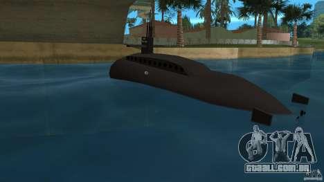 Vice City Submarine without face para GTA Vice City vista traseira esquerda