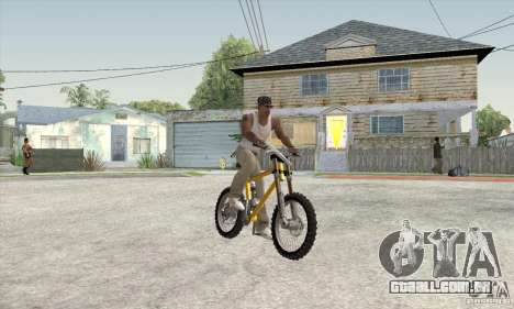 Downhill Bike para GTA San Andreas esquerda vista