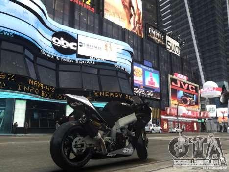 Aprilia RSV-4 Black Edition para GTA 4 traseira esquerda vista