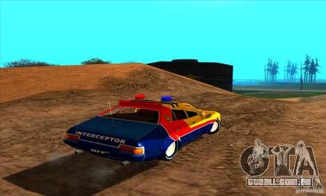 Ford Falcon 351 GT Interceptor Mad Max para GTA San Andreas esquerda vista