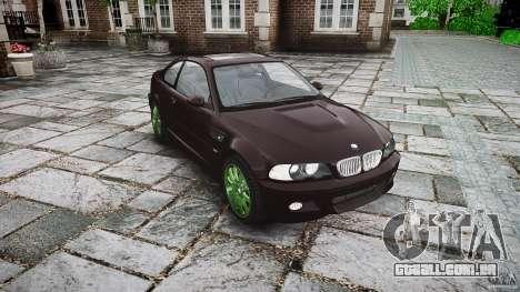 BMW M3 e46 2005 para GTA 4 vista de volta