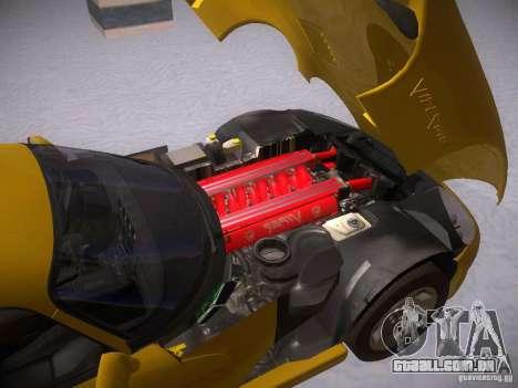 Dodge Viper 1996 para GTA San Andreas vista traseira