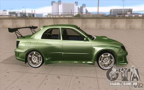 Subaru Impreza STI para GTA San Andreas vista interior