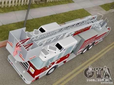Pierce Aerials Platform. SFFD Ladder 15 para GTA San Andreas vista interior