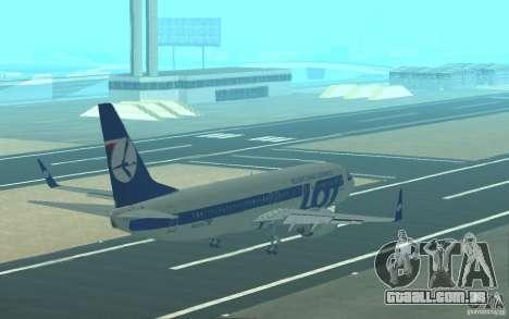 Boeing 737 LOT Polish Airlines para GTA San Andreas interior