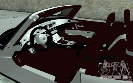 BMW Z8 para GTA San Andreas vista interior