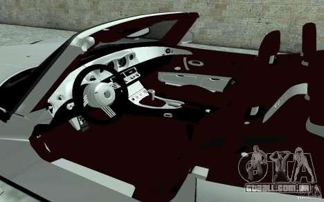 BMW Z8 para GTA San Andreas vista interior