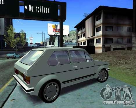 Volkswagen Golf MK 1 GTI para GTA San Andreas traseira esquerda vista