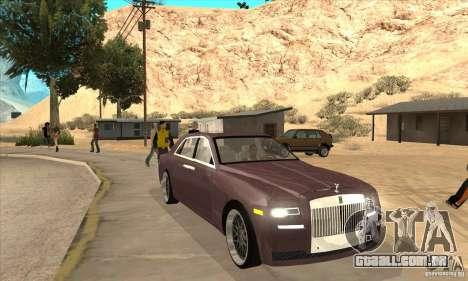 Rolls-Royce Ghost 2010 para GTA San Andreas vista traseira