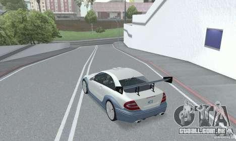 Mercedes-Benz CLK DTM AMG para GTA San Andreas vista interior