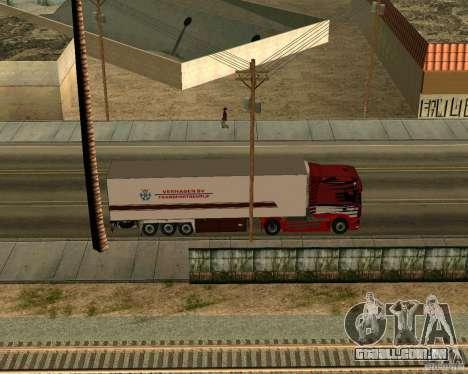 Scania TopLine para GTA San Andreas vista traseira