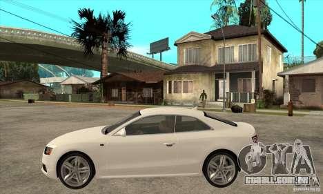 Audi S5 2008 para GTA San Andreas esquerda vista