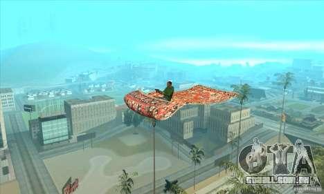 Flying Carpet v.1.1 para GTA San Andreas traseira esquerda vista