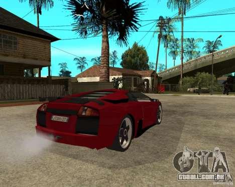 Lamborghini Murcielago SHARK TUNING para GTA San Andreas traseira esquerda vista