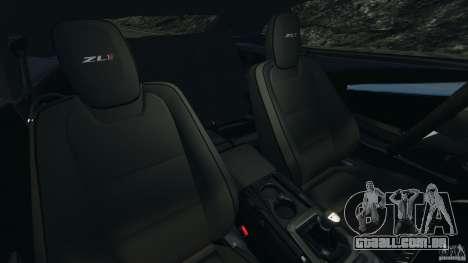 Chevrolet Camaro ZL1 2012 v1.2 para GTA 4 vista interior
