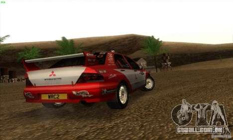 Mitsubishi Lancer Evolution VII para GTA San Andreas traseira esquerda vista