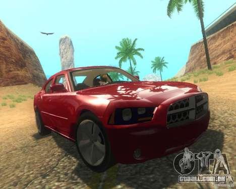 Dodge Charger 2011 para GTA San Andreas vista inferior